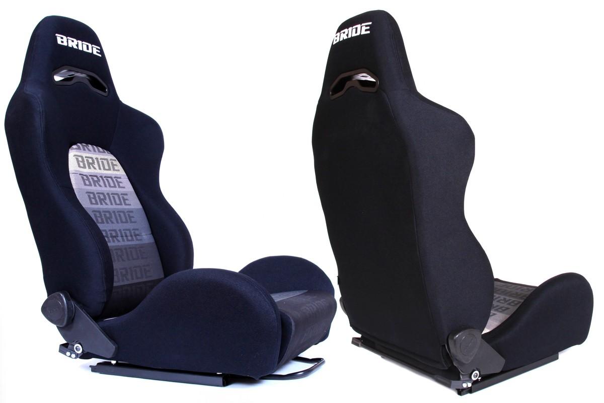 Fotel sportowy K700 Welur Bride Black - GRUBYGARAGE - Sklep Tuningowy